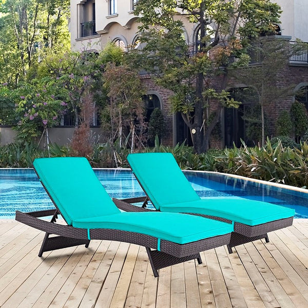 Convene Chaise Outdoor Patio Set of 2 - ModelDeco