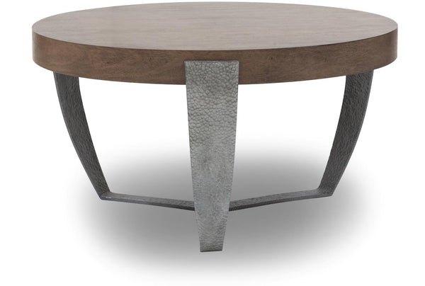 Elvia Round Wood Cocktail Table