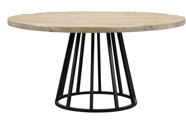 "Knox 60""Rd Reclaimed Wood Dining Table - ModelDeco"