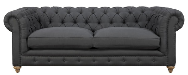 Oxford Grey Linen Sofa - ModelDeco