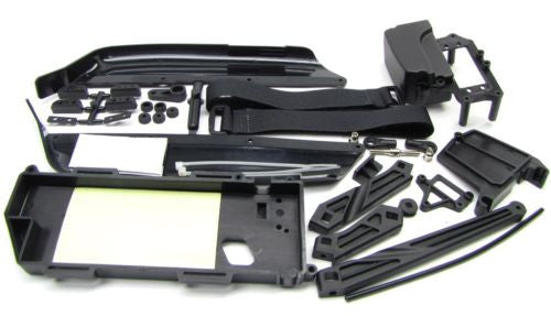 ECO MBX7r SIDE GUARDS, Battery tray, RX Box (#E0412) MBX7rE M-Spec MUGE2016