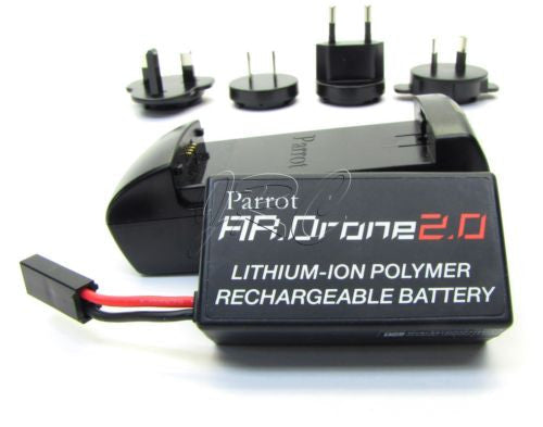 Parrot AR 2.0 LIPO Battery & Charger (11.1v 1000Mah) Genuine AR.Drone2.0 drone
