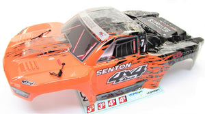 Arrma SENTON 4x4 3s BLX - Body Shell (Orange/Black painted decaled AR102668
