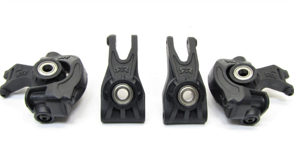 Arrma TYPHON 4x4 3s BLX - HUBS, bearings front/Rear Uprights granite AR102696