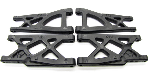 Arrma BIG ROCK 4x4 3s BLX - Suspension A-Arms front/Rear granite senton AR102711