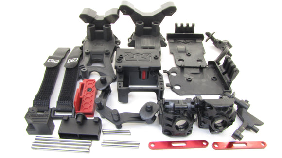 Arrma TYPHON 4x4 3s BLX - Gearbox Covers Towers Body Mounts straps AR102696