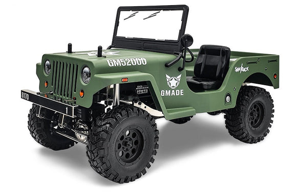 Gmade - Military Sawback 4 LS 4WD Brushed Off- Road RTR, 1/10th Scale, w/ GS01 Chassis