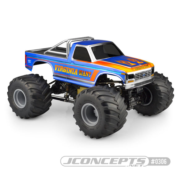1984 Ford F-250 MT Scale Body, for Custom 1/10 Scale Monster