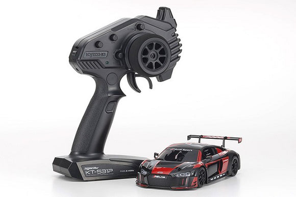 Kyosho - MINI-Z Audi R8 LMS 2016 RTR, Black/Red, w/ MR-03 Chassis, RWD