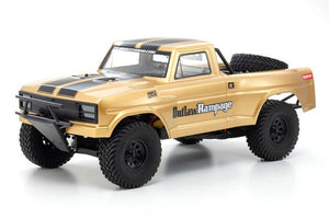 Kyosho - Outlaw Rampage Pro, 1/10 2WD Electric Truck, Gold, Readyset