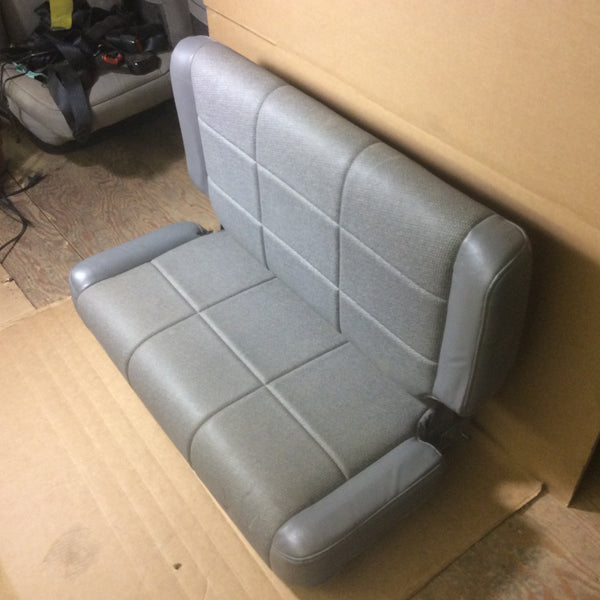97-02 Jeep Wrangler TJ Rear Seat Gray Viny Folding Flip Back Seats