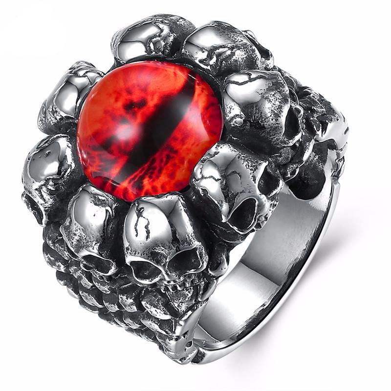 rings gothic dark knight eye ring from armoury evil p