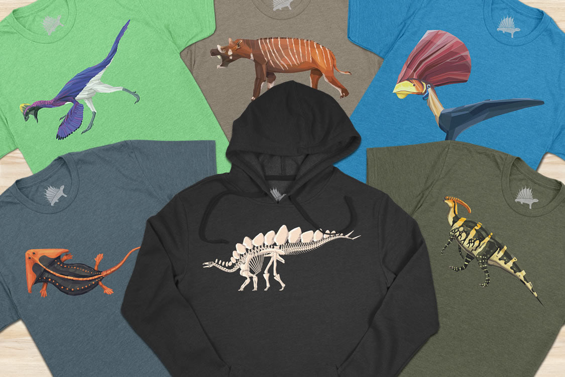 Permia Dinosaur Hoodie Sticker Greeting Card and Youth T-Shirt News