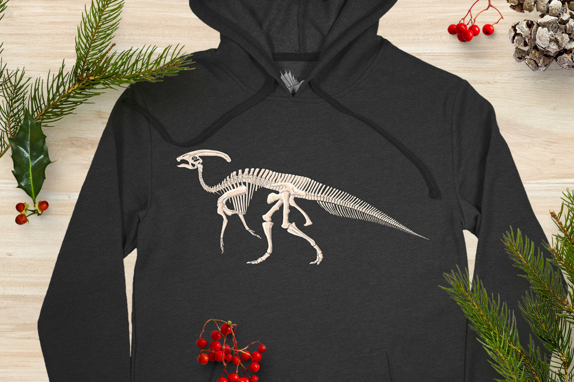 Parasaurolophus Hoodies and Collectible Sticker Packs!