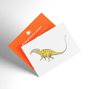 Amargasaurus X-Ray 3D Collectible Dinosaur Card  - Permia