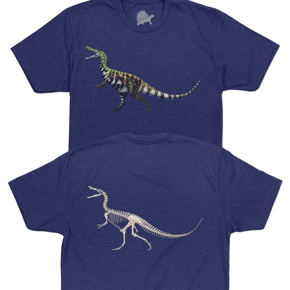 Baryonyx Fossil Fusion™ Adult Dinosaur T-Shirt Royal Purple - Permia