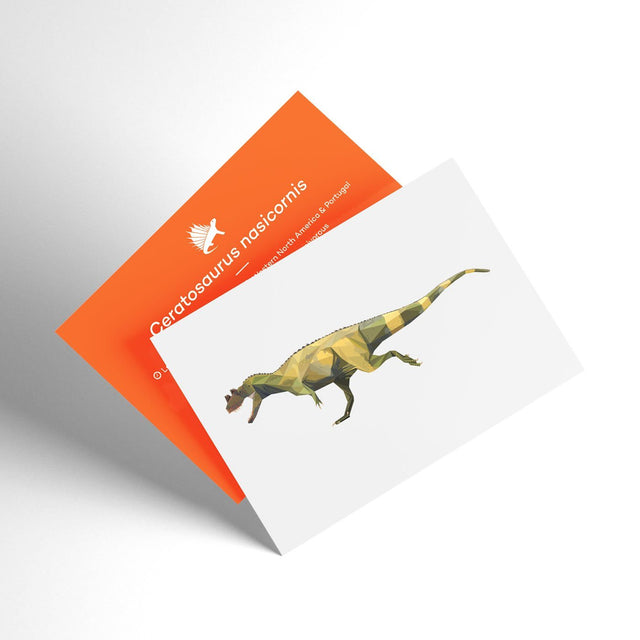 Ceratosaurus 3D Collectible X-Ray Dinosaur Card Permia