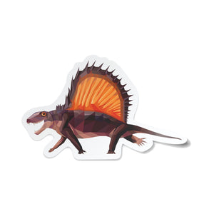 Dimetrodon Collectible Dinosaur Sticker  - Permia