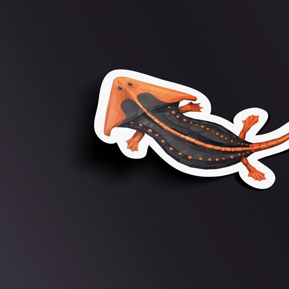 Diplocaulus Collectible Amphibian Sticker  - Permia