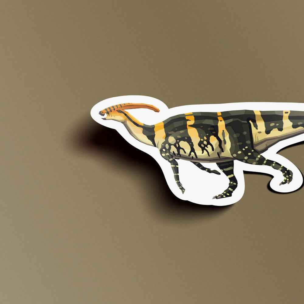 Parasaurolophus Collectible Dinosaur Sticker  - Permia