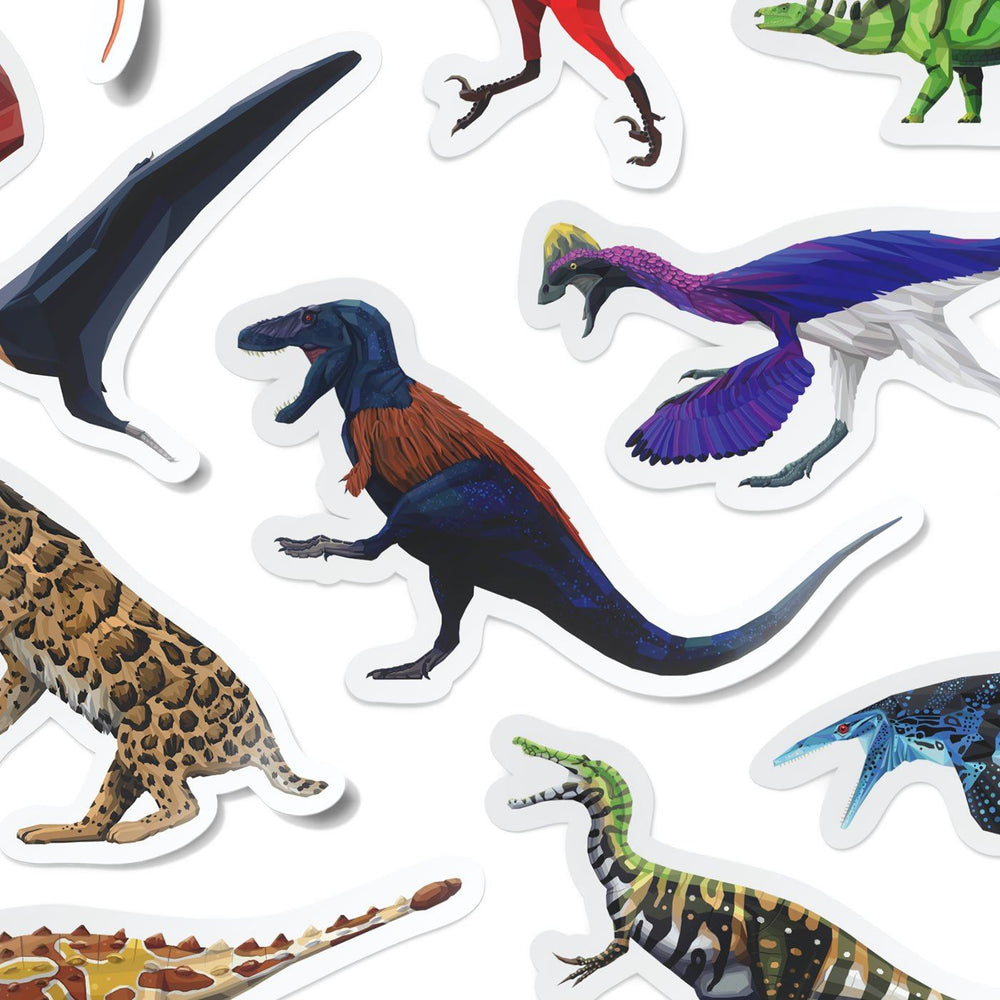Collectible Dinosaur Stickers 16-Pack  - Permia