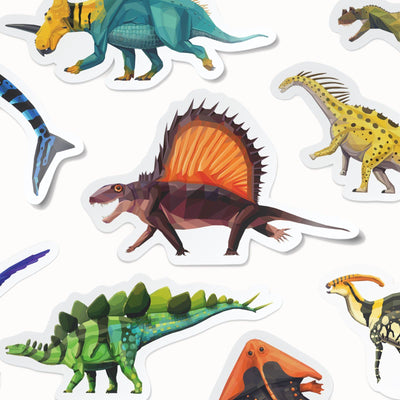 Collectible Dinosaur Stickers 12-Pack  - Permia