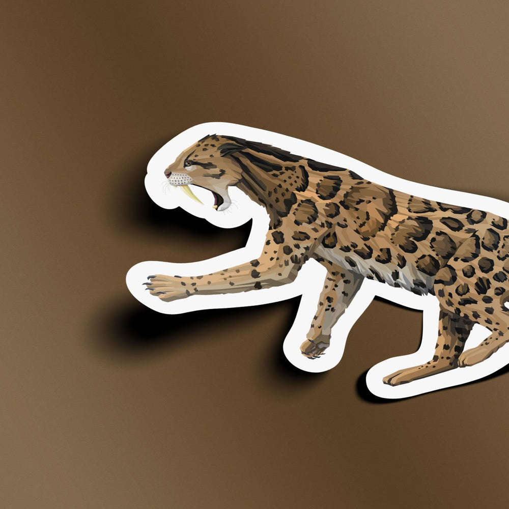 Smilodon Collectible Saber-Toothed Cat Sticker  - Permia