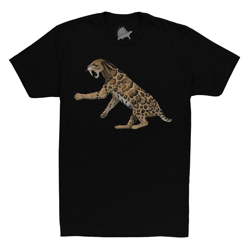 Smilodon Fossil Fusion™ Adult Saber-Toothed Cat T-Shirt  - Permia