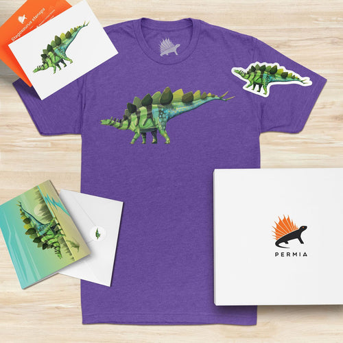 Stegosaurus Adult Dinosaur Gift-Set Bright Purple - Permia