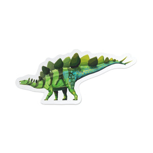 Stegosaurus Collectible Dinosaur Sticker  - Permia
