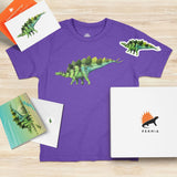 Stegosaurus Kids Dinosaur Gift-Set Bright Purple - Permia