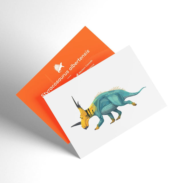 Styracosaurus 3D Collectible X-Ray Dinosaur Card Permia