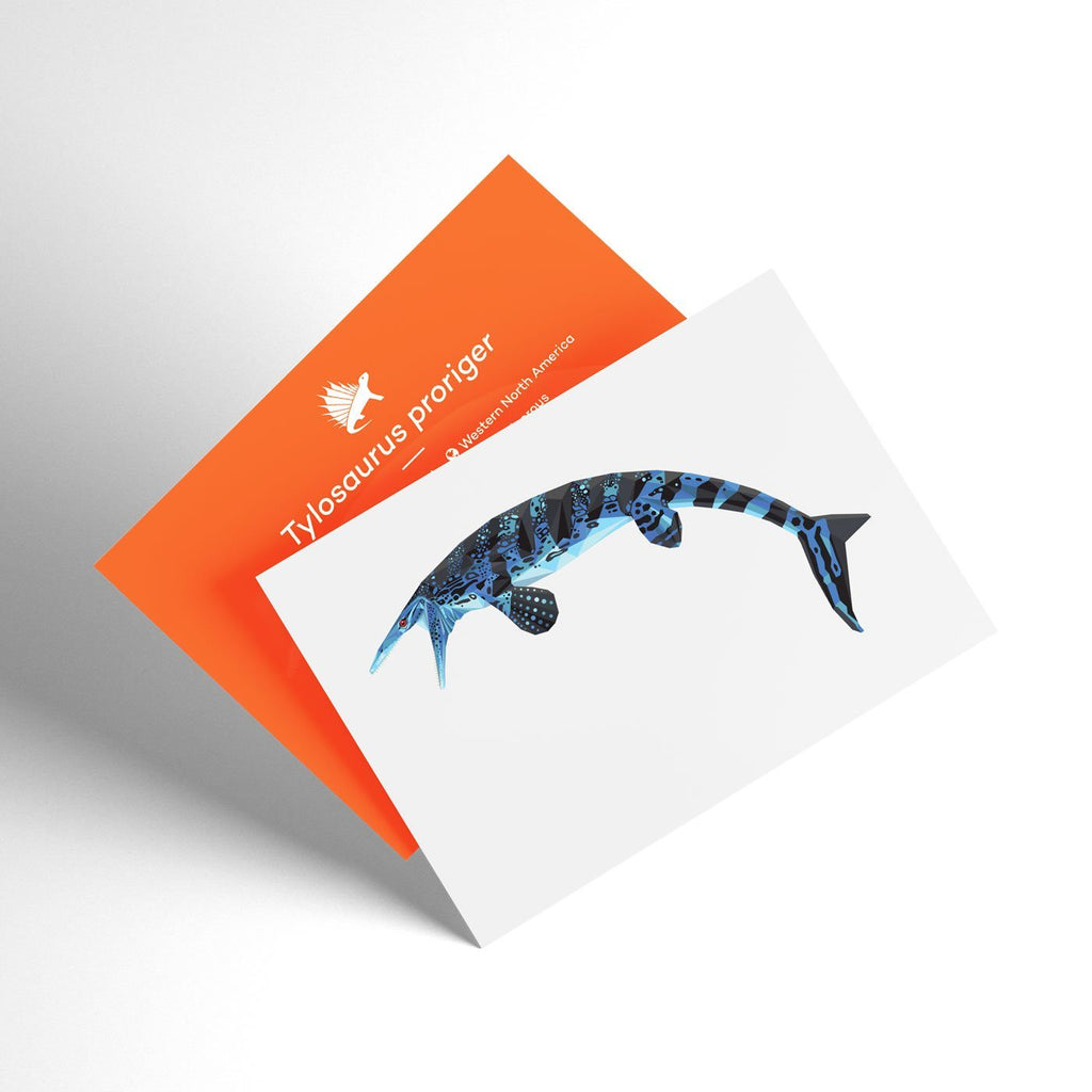 Tylosaurus 3D Collectible X-Ray Dinosaur Card Permia