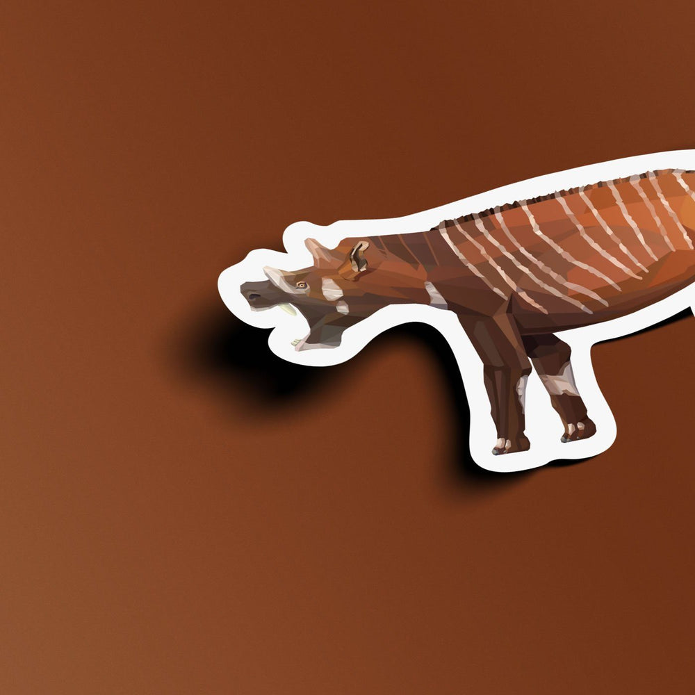 Uintatherium Collectible Mammal Sticker  - Permia