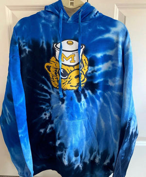 Load image into Gallery viewer, Michigan Tie Dye Hoodie