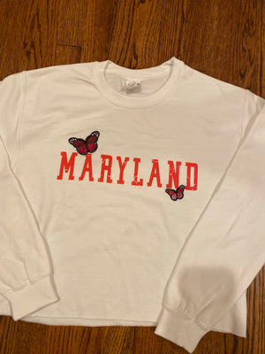 *ANY SCHOOL* Butterfly Crewneck Sweatshirt