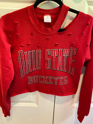 Load image into Gallery viewer, OSU Cropped Sweatshirt