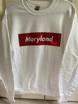 Load image into Gallery viewer, Maryland Comme Des Supreme Sweatshirt