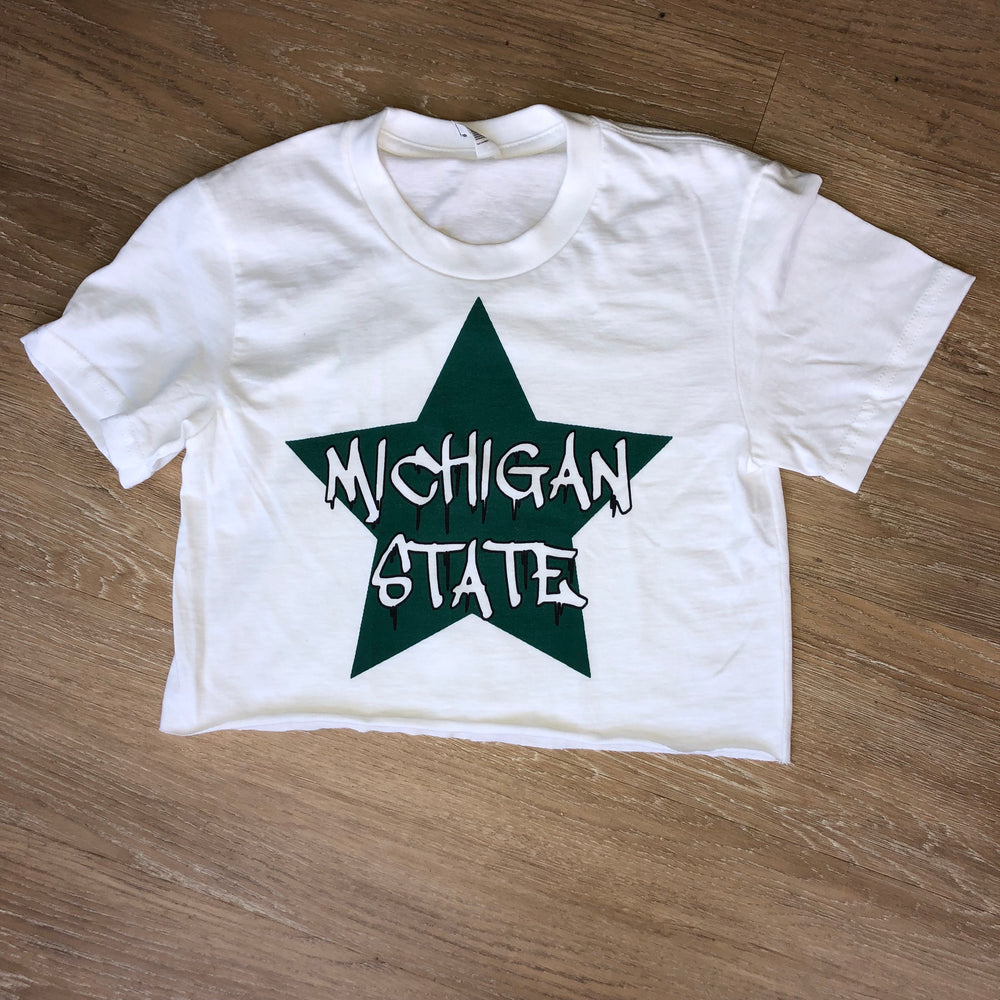 Load image into Gallery viewer, *ANY COLLEGE* BIG STAR CROP TEE