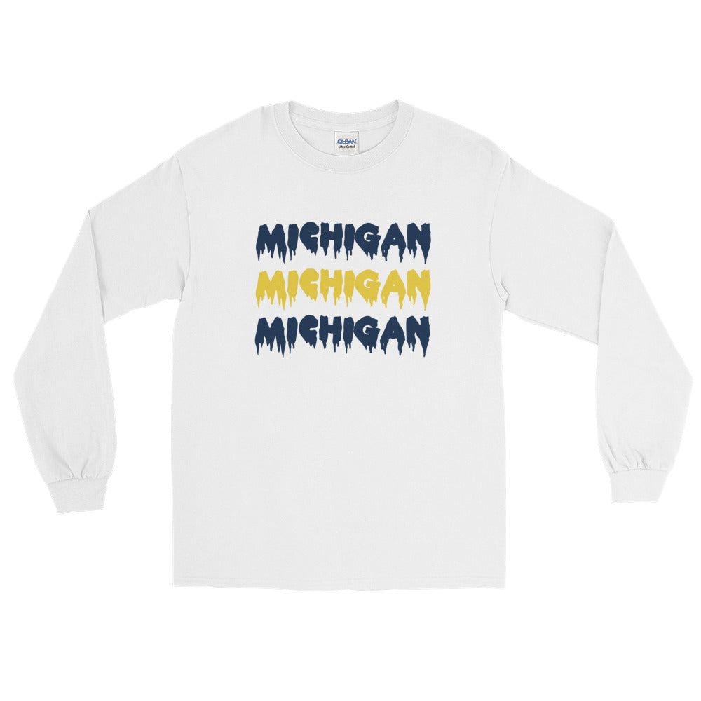 *Any College* Drip Long Sleeve Tee