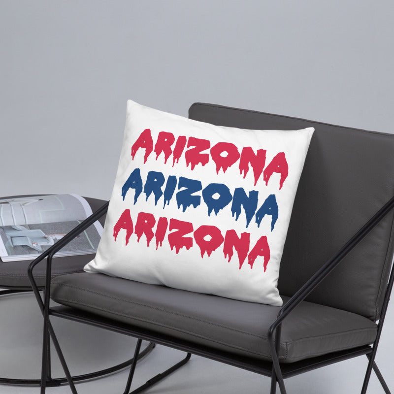 Load image into Gallery viewer, Drip Letters Pillow