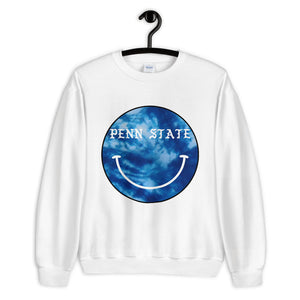 Load image into Gallery viewer, *Any College* Tie Dye Smiley Crewneck Sweatshirt