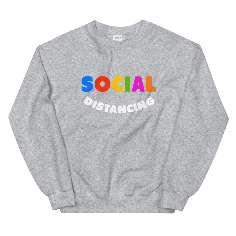 Load image into Gallery viewer, Rainbow Social Distancing Crewneck Sweatshirt