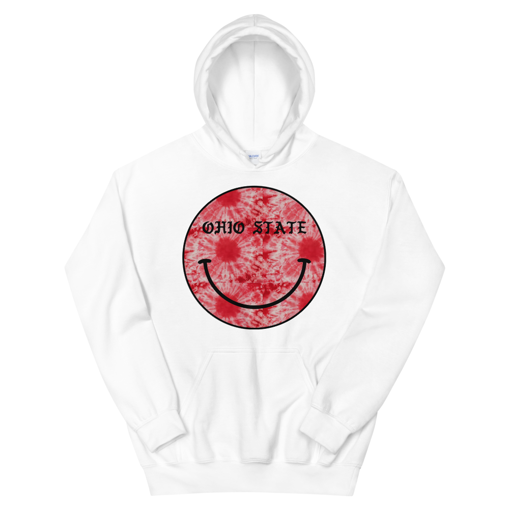 *Any College* Tie Dye Smiley Hoodie