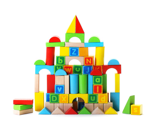 Alphabet Blocks 80 Pieces Wooden Educational Toys