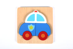 Vehicle Mini Chunky Wooden Puzzle Bundle Pack (Set of 4) w/