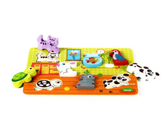 Cute Pets Baby Animal Chunky Wooden Puzzle w/
