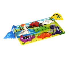 Cute Dinosaur Chunky Wooden Puzzle w/