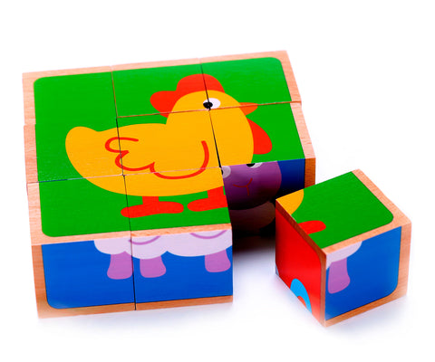 Animal Block Puzzle Fun Kids Playing Toys
