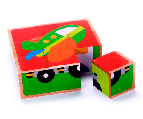 50 Piece Classic Wooden Building Block Set - Hardwood Plain & Colored Small Wood Blocks